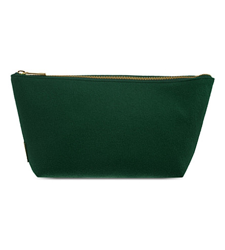 RICHARD JAMES Molton Broadcloth pouch (Ranger green/black