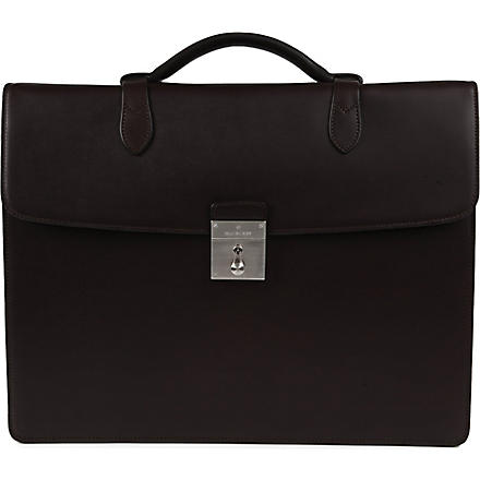MULBERRY Single leather briefcase (Chocolate