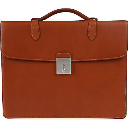 MULBERRY Single leather briefcase (Oak