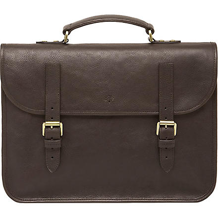 MULBERRY Elkington natural leather briefcase (Chocolate