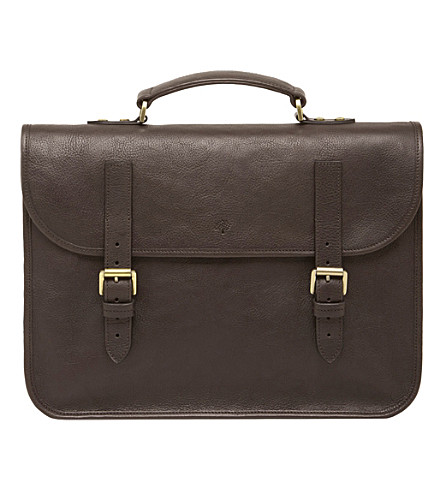 MULBERRY Elkington briefcase (Chocolate