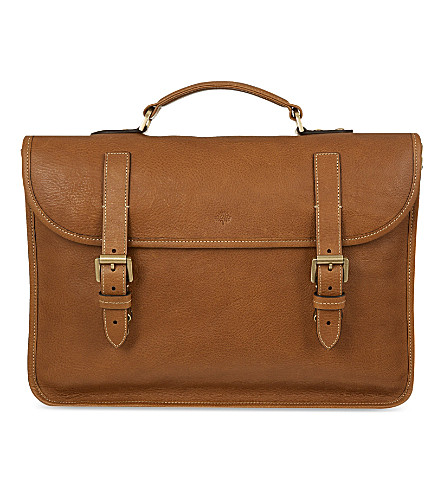 MULBERRY Elkington briefcase (Oak