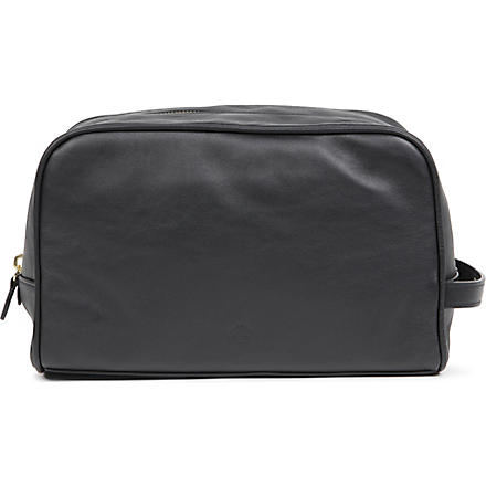 MULBERRY Nappa leather wash bag (Black