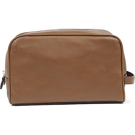 MULBERRY Nappa leather wash bag (Oak