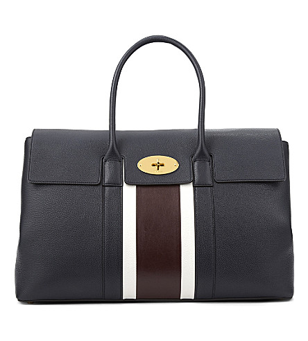 MULBERRY Bayswater large tote (Midnight-white-burgundy