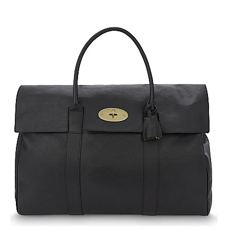 MULBERRY Piccadilly leather holdall (Black