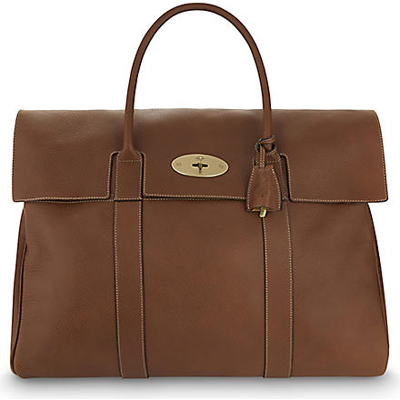 MULBERRY Piccadilly natural leather holdall (Oak