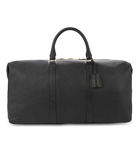 MULBERRY Medium Clipper leather holdall (Black