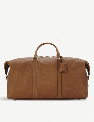 MULBERRY Clipper small pebbled-leather holdall