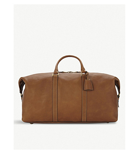 MULBERRY Medium Clipper leather holdall (Oak