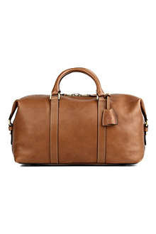 MULBERRY Small clipper leather holdall