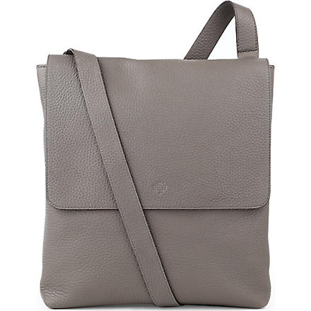 MULBERRY Reporter soft grain leather cross-body bag (Grey