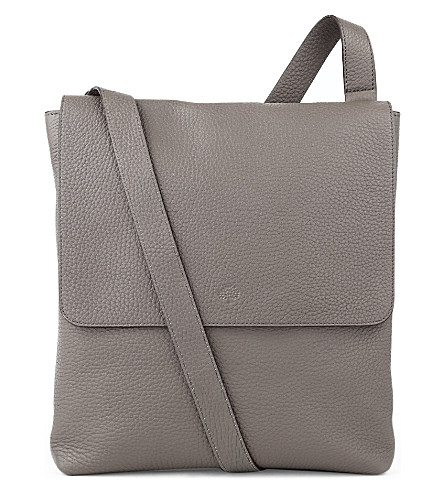 MULBERRY Reporter with flap cross-body bag (Grey