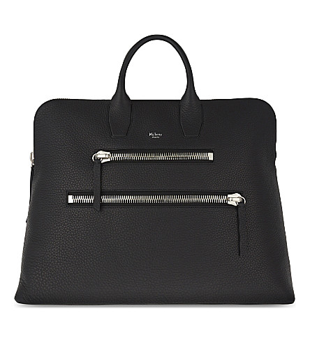 MULBERRY Zip leather holdall (Black