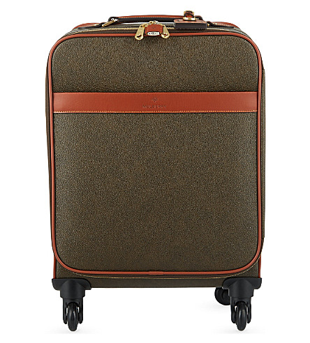 MULBERRY Scotchgrain four-wheel trolley suitcase 55cm (Mole-cognac