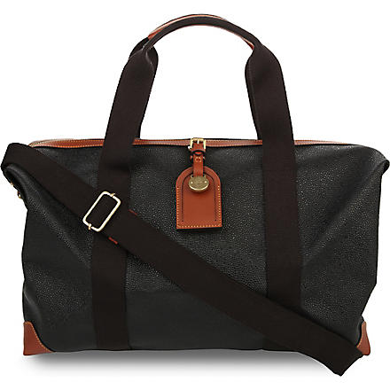 MULBERRY Clipper holdall (Black-cognac