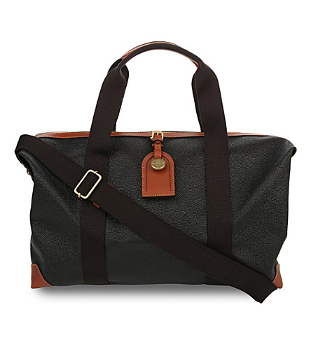 MULBERRY Small Clipper holdall (Black-cognac