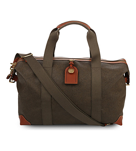 MULBERRY Small Clipper holdall (Mole+cognac