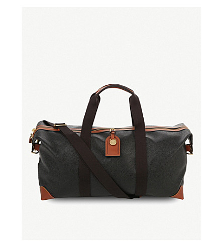 MULBERRY Medium Clipper holdall (Black-cognac
