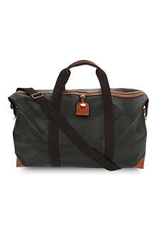 MULBERRY Scotchgrain large clipper holdall