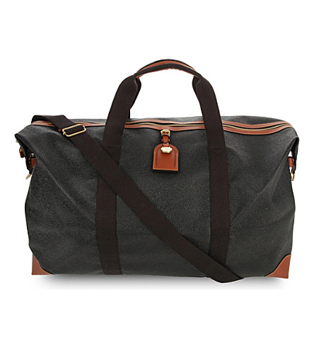 MULBERRY Large Clipper holdall (Black-cognac
