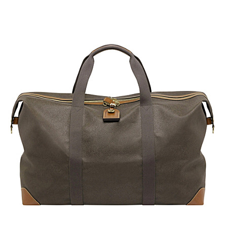 MULBERRY Large Clipper holdall (Mole cognac