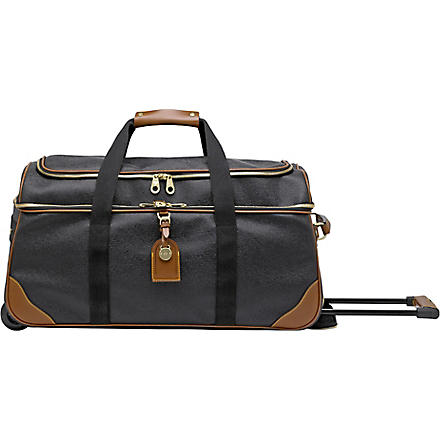 MULBERRY Scotchgrain duffel bag (Black-cognac