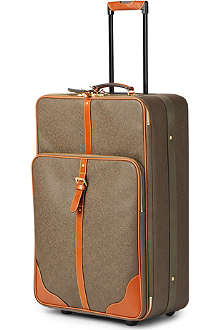 MULBERRY Scotchgrain large two-wheel suitcase 79cm