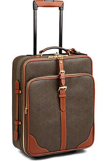 MULBERRY Scotchgrain two-wheel cabin suitcase