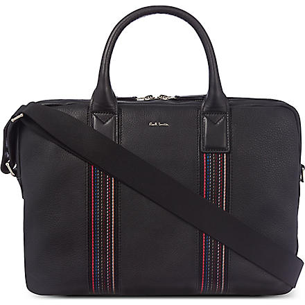 PAUL SMITH City webbing milton laptop bag (Black