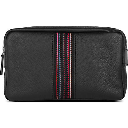 PAUL SMITH City Webbing wash bag (Black