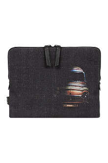 PAUL SMITH Mini cross hatched iPad case