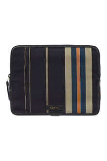 PAUL SMITH Regiment striped iPad case