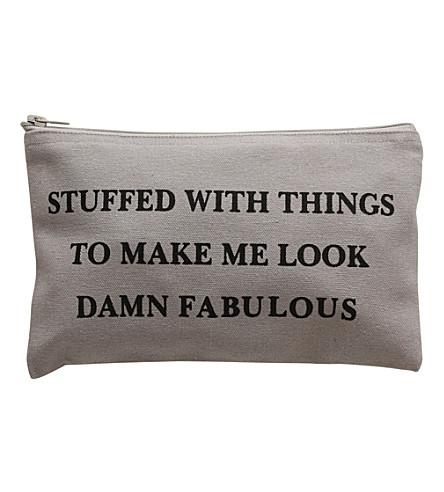 VANILLA FLY Damn Fabulous small wash bag