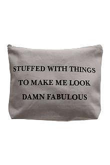 VANILLA FLY Damn Fabulous large wash bag