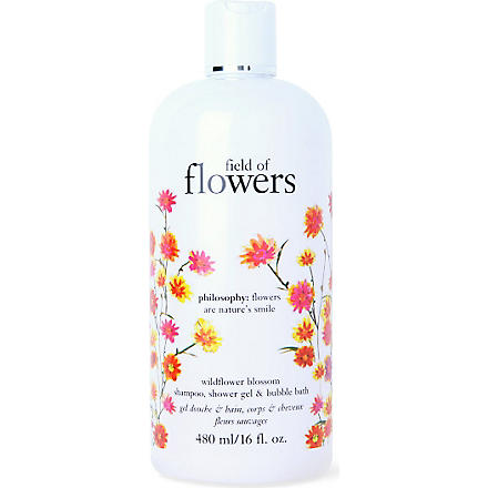 PHILOSOPHY Field of Flowers Wildflower Blossom shampoo, shower gel & bubble bath 480ml
