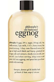 PHILOSOPHY Old Fashioned Eggnog shampoo, shower gel & bubble bath 480ml
