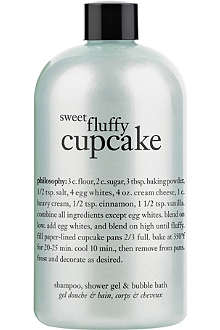 PHILOSOPHY Sweet Fluffy Cupcake shampoo, shower gel & bubble bath 480ml