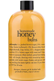 PHILOSOPHY Homemade Honey Buns shampoo, shower gel & bubble bath 480ml