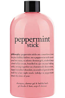 PHILOSOPHY Peppermint Stick shampoo, shower gel & bubble bath 480ml
