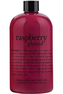 PHILOSOPHY Raspberry Glazed shampoo, shower gel & bubble bath 480ml