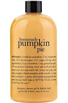 PHILOSOPHY Homemade Pumpkin Pie shampoo, shower gel & bubble bath 480ml