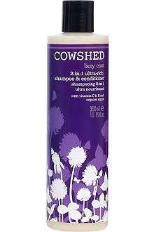 COWSHED Lazy Cow 2-in-1 rich shampoo and conditioner 300ml
