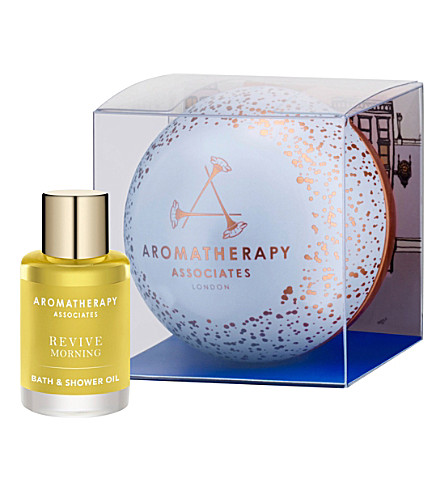 AROMATHERAPY ASSOCIATES Christmas Precious Revive Time bath and shower oil with bauble 9ml