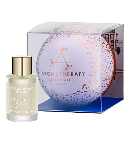 AROMATHERAPY ASSOCIATES Christmas Precious De-stress bath and shower oil with bauble 9ml