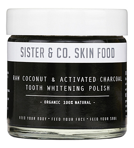 SISTER & CO Raw Coconut & Activated Charcoal Tooth Whitening Polish