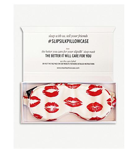 SLIP Red Kisses silk eye mask