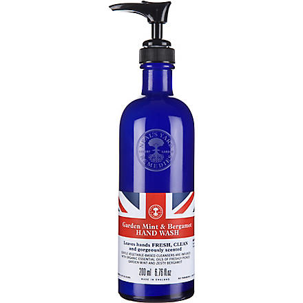NEAL'S YARD REMEDIES Limited Edition Garden Mint and Bergamot hand wash 200ml