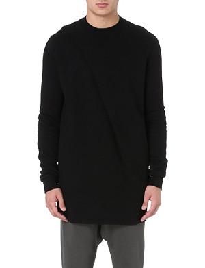 RICK OWENS DRKSHDW Twist-detail sweatshirt
