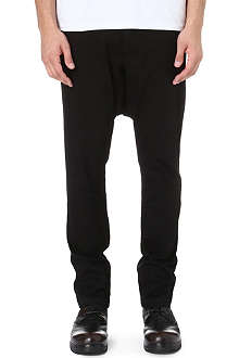 RICK OWENS DRKSHDW Drop-crotch tapered trousers